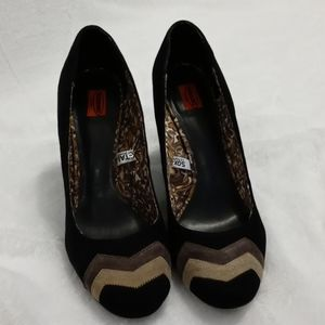 Missoni for Target Chevron Chunk Heel Leather Shoe